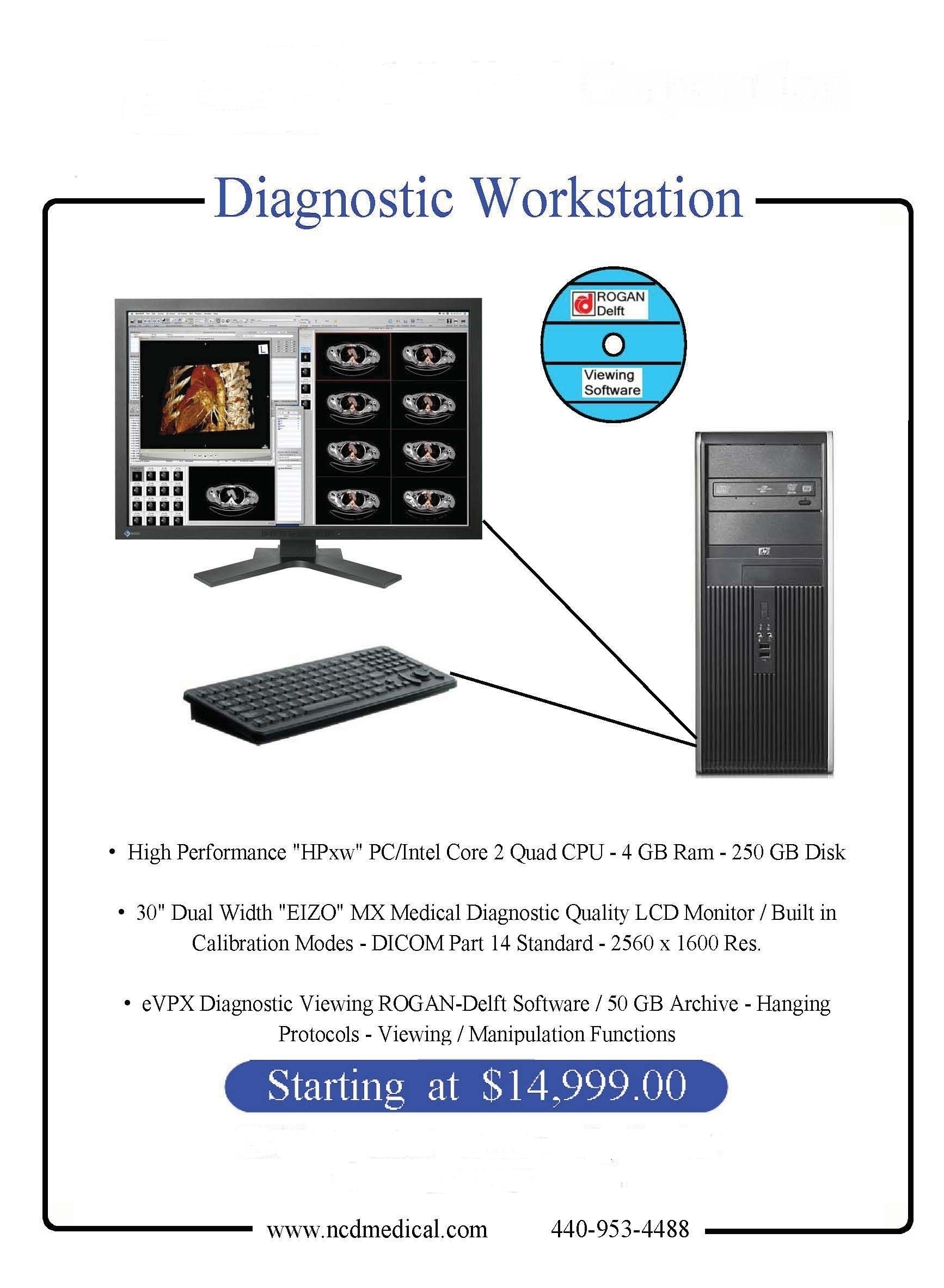 specially  priced  diagnostic workstation